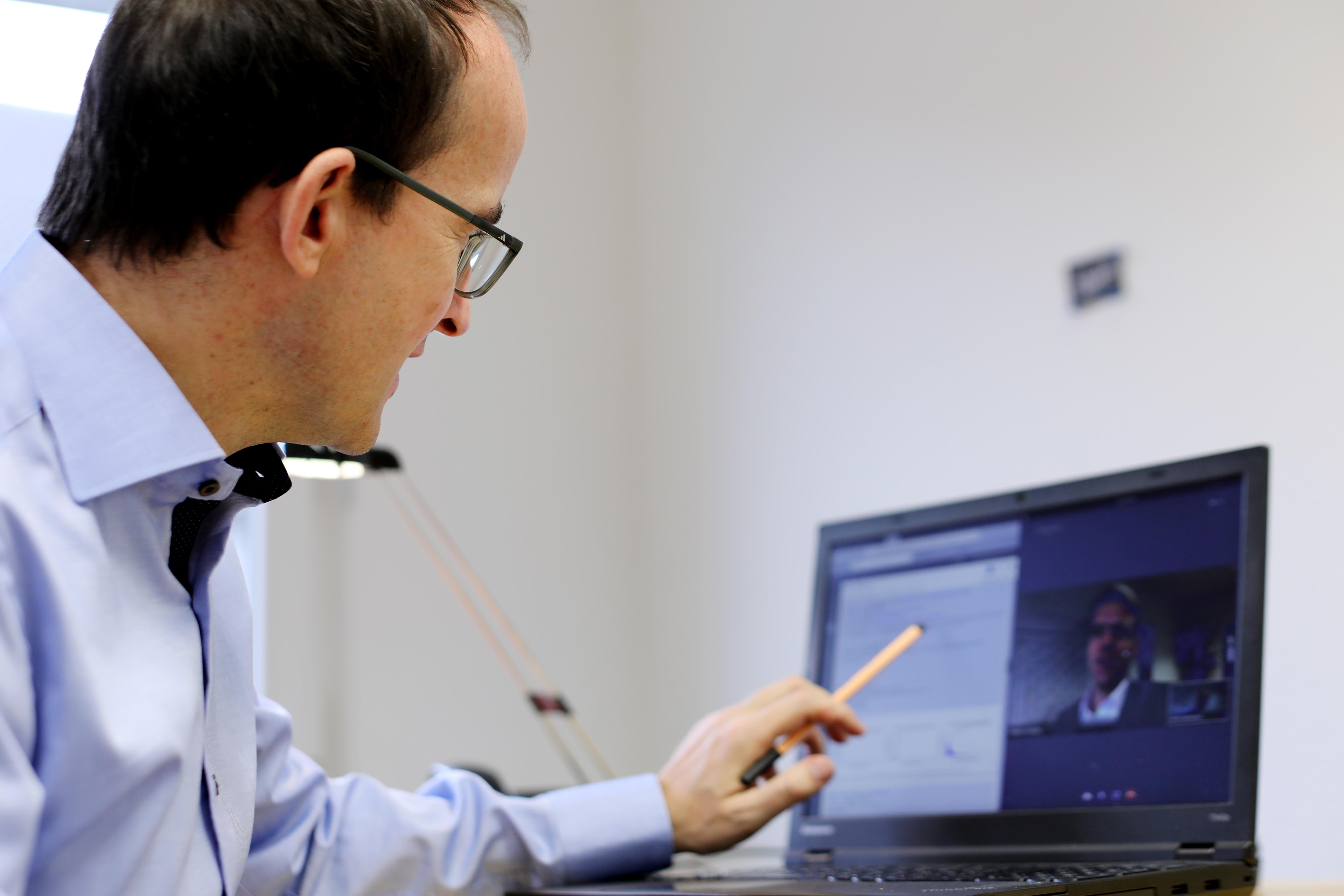 CTO Martin Bernemann und CEO Martin Schulze bei einer Webkonferenz